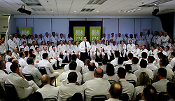 File photo dated 10/02/11 of former prime minister David Cameron (centre) talking to staff during a visit to the Honda plant in Swindon. Honda is planning to close the plant in three years time, according to unconfirmed reports.
