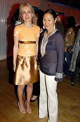 Left to right, SAHAR HASHEMI and LILLIAN VON STAUFFENBERG at a party hosted by Elizabeth Saltzman and Harvey Nichols to celebrate the UK launch of New York fashion designer Tory Burch held at the Fifth Floor Restaurant, Harvey Nichols, Knightsbridge, London on 24th May 2006.<br /><br />NON EXCLUSIVE - WORLD RIGHTS