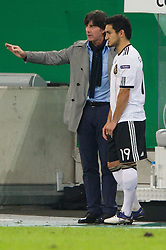 11.10.2011, Esprit Arena, Duesseldorf, GER, UEFA EURO 2012 Qualifikation, Deutschland (GER) vs Belgien (BEL), im Bild Joachim Jogi Löw / Loew (Bundestrainer / Trainer GER), Ilkay Guendogan / Gündogan (#19 GER, Borussia Dortmund) // during the UEFA Euro 2012 qualifying round Germany vs Belgium  at Esprit Arena, Duesseldorf 2011-10-11 EXPA Pictures © 2011, PhotoCredit: EXPA/ nph/  Kurth       ****** out of GER / CRO  / BEL ******