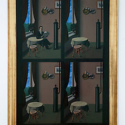 "September 23, 2013 - New York, NY : René Magritte's work **L'homme au journal<br /> (The Man with the Newspaper)<br /> Paris, 1928<br /> Oil on canvas** is on display as part of the show ""Magritte: The Mystery of the Ordinary, 1926–1938"" at the Modern Museum of Art in Manhattan. The exhibition, which according to MoMA is ""the first to focus exclusively on the breakthrough Surrealist years of René Magritte,"" is currently in member preview, but will open to the general public on September 28. CREDIT: Karsten Moran for The New York Times"