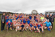 Both teams pose at the end of the rugby league match between Upper Central Zone U18 and NSW Country U18, at Puketawhero Park, Rotorua, New Zealand, Saturday 13 July 2013.  Photo: Stephen Barker/photosport.co.nz