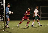 SPS boys varsity soccer with Deerfield Academy.    ©2017 Karen Bobotas Photographer