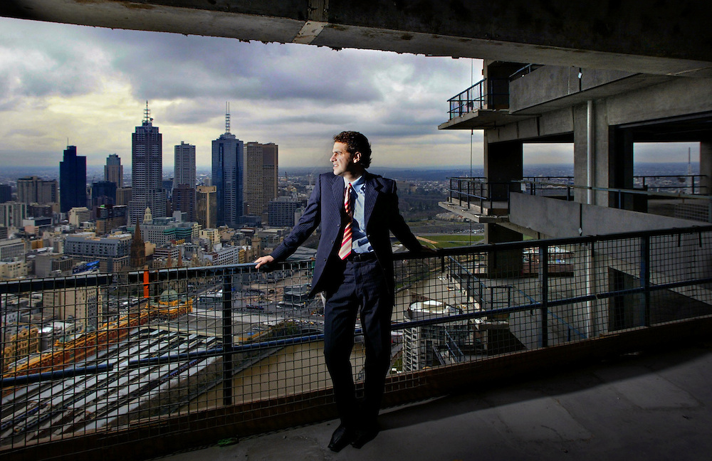 Daniel Grollo on the 50th floor of the Eureka Tower  Pic By Craig Sillitoe  FOR THE SUNDAY AGE SPECIAL 000 melbourne photographers, commercial photographers, industrial photographers, corporate photographer, architectural photographers, This photograph can be used for non commercial uses with attribution. Credit: Craig Sillitoe Photography / http://www.csillitoe.com<br />