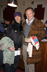 Left to right, Singer IAN BROWN and JOE CORRE at the launch of 'Grand Classics:Films with Style' series in London hosted by Vivienne Westwood at The Electric Cinema, Portobello Road, London W11 on 20th March 2006.<br />
