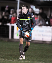 WILLIAM JAASKELAINEN GOALKEEPER NANTWICH TOWN, Kettering Town v Nantwich Town Emirates FA Cup 1st Round Replay Latimer Park, Tuesday 17th October 2017, Score 0-1, Att 903.<br /> Photo:Mike Capps
