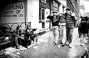 Alcoholics and drunks on the streets of Cardiff during the Rugby International at Cardiff Arms Park 1989