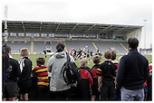 Newcastle Falcons Premier Rugby Camp at Kingston Park - 20-04-2006. Pics with players