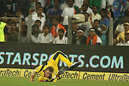 Phillip Hughes of Australia tries in vain to make the catch  during the first Star Sports Series One Day International (ODI) between India and Australia held at the Subrata Roy Sahara Stadium, Pune on the 13th October 2013<br /> <br /> Photo by Ron Gaunt - BCCI - SPORTZPICS  <br /> <br /> Use of this image is subject to the terms and conditions as outlined by the BCCI. These terms can be found by following this link:<br /> <br /> http://sportzpics.photoshelter.com/gallery/BCCI-Image-terms-and-conditions/G00004IIt7eWyCv4/C0000ubZaQCkIRgQ