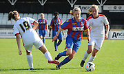 Leanne Bell on the attack for Palace during the FA Women's Premier League match between Crystal Palace LFC and Milton Keynes Dons LFC at the Crystal Palace National Sports Centre, Croydon, United Kingdom on 6 September 2015. Photo by Michael Hulf.