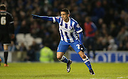 Goal scorer Brighton striker, Anthony Knockaert (27) during the Sky Bet Championship match between Brighton and Hove Albion and Brentford at the American Express Community Stadium, Brighton and Hove, England on 5 February 2016.
