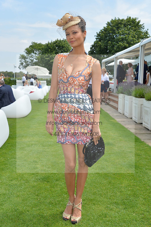 THANDIE NEWTON at the Audi International Polo at Guards Polo Club, Windsor Great Park, Egham, Surrey on 26th July 2014.