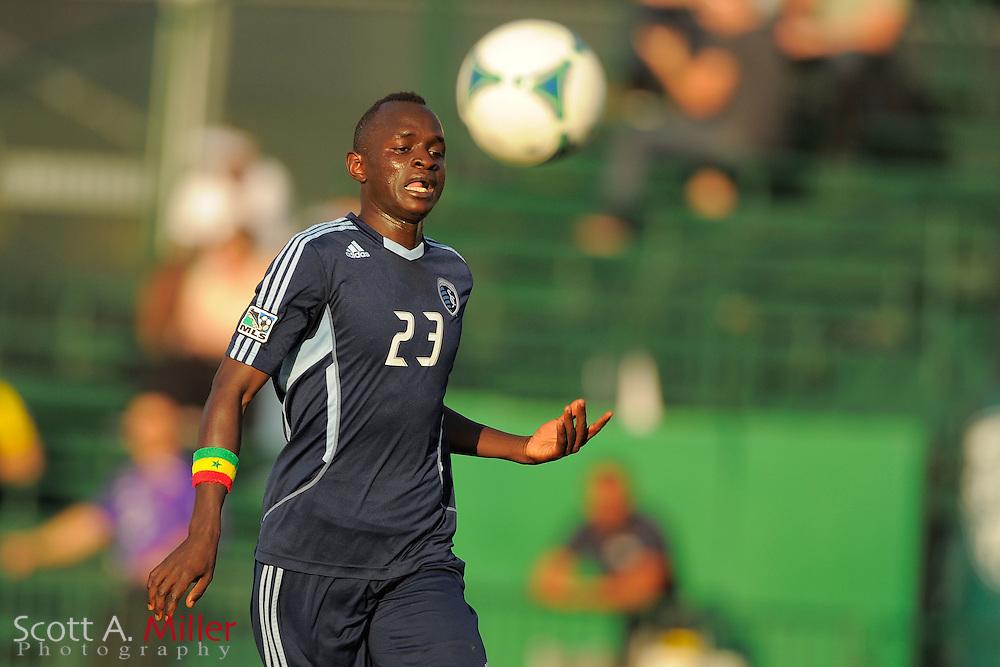 Sporting KC midfielder Adama Mbengue (23) during the Disney Pro Soccer Classic on Feb 9, 2013  in Lake Beuna Vista, Florida. ..©2013 Scott A. Miller