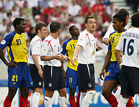 Photo: Chris Ratcliffe.<br /> England v Ecuador. 2nd Round, FIFA World Cup 2006. 25/06/2006.<br /> John Terry of England tries to organise the defence.