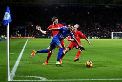 Riyad Mahrez of Leicester City goes past James Milner of Liverpool - Mandatory by-line: Robbie Stephenson/JMP - 27/02/2017 - FOOTBALL - King Power Stadium - Leicester, England - Leicester City v Liverpool - Premier League