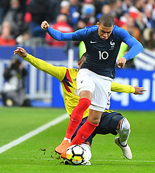 France's Kylian Mbappe during France v Colombia friendly football match at the Stade de France stadium in Saint-Denis, suburb of Paris, France on March 23, 2018. Colombia won 3-2. Photo by Christian Liewig/ABACAPRESS.COM
