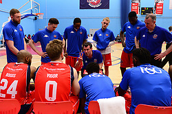 Half time team talk - Photo mandatory by-line: Dougie Allward/JMP - 01/04/2017 - BASKETBALL - SGS Wise Arena - Bristol, England - Bristol Flyers v Leeds Force - British Basketball League