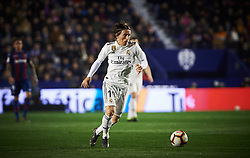 February 24, 2019 - Valencia, Valencia, Spain - Luka Modric of Real Madrid during the La Liga match between Levante and Real Madrid at Estadio Ciutat de Valencia on February 24, 2019 in Valencia, Spain. (Credit Image: © Maria Jose Segovia/NurPhoto via ZUMA Press)