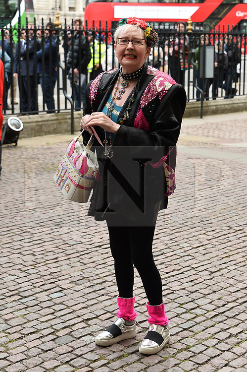 © Licensed to London News Pictures. 07/06/2017. London, UK. SU POLLARD attends a service of Thanksgiving for the life and work of RONNIE CORBETT at Westminster Abbey. The entertainer, comedian, actor, writer, and broadcaster was best known for his long association with Ronnie Barker in the BBC television comedy sketch show The Two Ronnies. Photo credit: Ray Tang/LNP