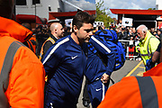 Tottenham Hotspur manager Mauricio Pochettino arriving at the Vitality Stadium before the Premier League match between Bournemouth and Tottenham Hotspur at the Vitality Stadium, Bournemouth, England on 4 May 2019.