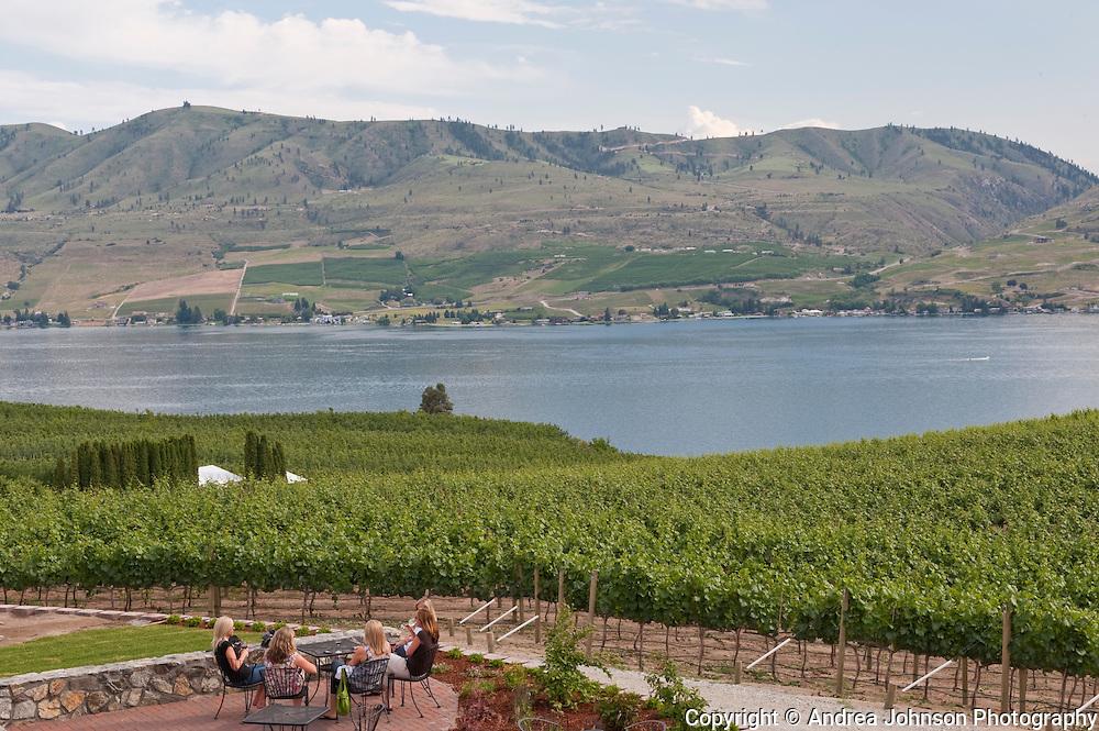 Benson Vineyards and tasting room overlooking Lake Chelan, Washington