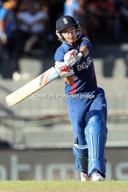 Sarah Taylor of England  during the ICC Women's World Twenty20 Semi final match between England and New Zealand held at the Premadasa Stadium in Colombo, Sri Lanka on the 4th October  2012<br /> <br /> Photo by Ron Gaunt/SPORTZPICS/PHOTOSPORT
