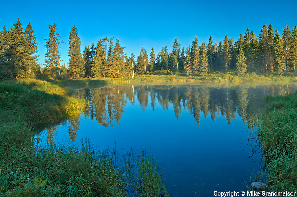 WHirlpool Lake at sunrise<br />Riding Mountain National Park<br />Manitoba<br />Canada