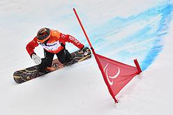 MINARD Curt CAN competing in ParaSnowboard, Snowboard Banked Slalom at  the PyeongChang2018 Winter Paralympic Games, South Korea.