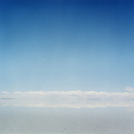 Salar de Uyuni is the world's largest salt flat at 10,582 km&sup2; holds half of the world's reserves of lithium, a metal which is used in high energy density lithium batteries. There is currently no mining plant at the site and the Bolivian government doesn't want to allow exploitation by foreign corporations, but instead it intends to build its own pilot plant.<br /> Photos&copy;AmayaRoman/Workers'Photos