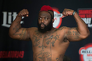 Houston, Texas - February 18, 2016: Dada 5000 weighs-in before his fight against Kimbo Slice during the Bellator 149 weigh-ins at the Toyota Center in Houston, Texas on February 18, 2016. (Cooper Neill for ESPN)