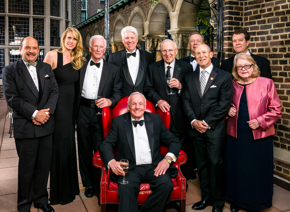 The Lindbergh Foundation board at a May, 2012 fund raiser at the Explorer's Club in New York City.  Apollo astronauts Jim Lovell, Gene Cernan, and Neil Armstrong were the featured speakers.