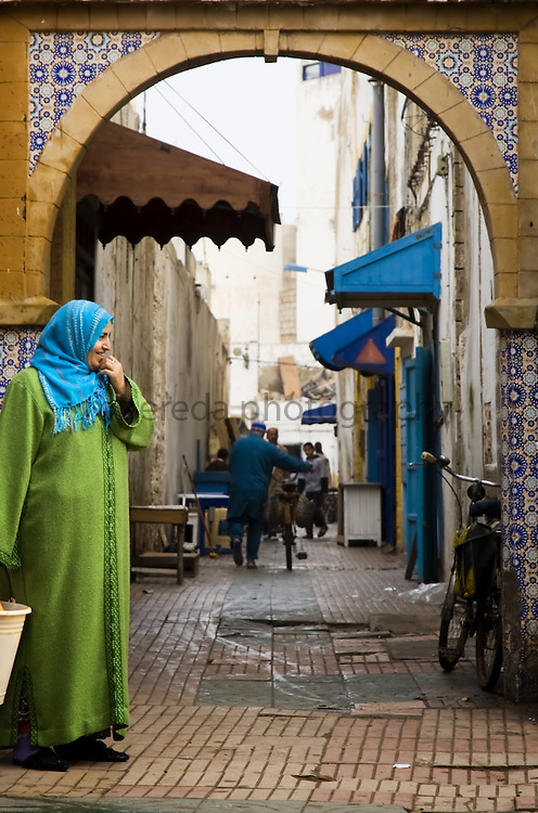 A woman in the streets of Essaouira