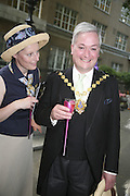 Grania Nicoll and Councillor Alexander Nicoll Lord Mayor of Westminster, . The Big Splash! Summer Party, The Residents' Society Of Mayfair & St James's Summer Party, Mount Street Gardens, London, W1, 12 June 2006. ONE TIME USE ONLY - DO NOT ARCHIVE  © Copyright Photograph by Dafydd Jones 66 Stockwell Park Rd. London SW9 0DA Tel 020 7733 0108 www.dafjones.com