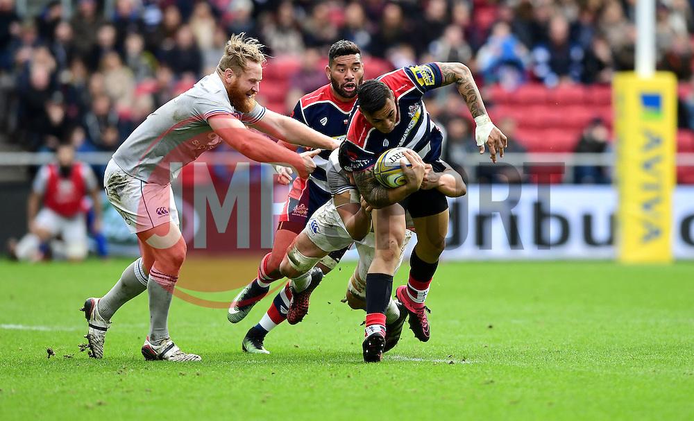 Tusi Pisi of Bristol Rugby drives forward  - Mandatory by-line: Joe Meredith/JMP - 26/02/2017 - RUGBY - Ashton Gate - Bristol, England - Bristol Rugby v Bath Rugby - Aviva Premiership