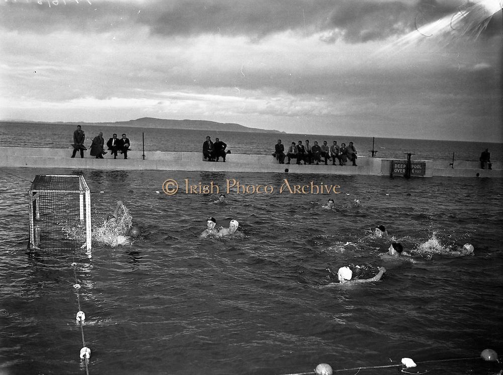 Water Polo - Ireland vs Wales at Blackrock baths, Dublin.27/07/1957