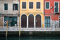 Colorful Buildings Along Canal, Venice, Italy