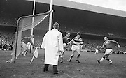 Cork attempt to clear ball during the All Ireland Senior Gaelic Football Final Cork v. Meath in Croke Park on the 24th September 1967. Meath 1-9 Cork 0-9.