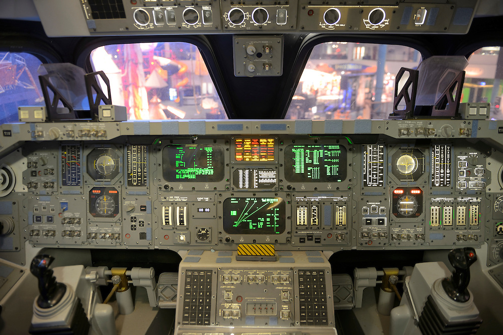 Cockpit of Space Shuttle,NASA Space Center,Houston, Texas,USA