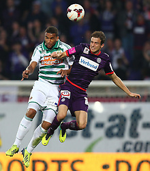 27.10.2013, Generali Arena, Wien, AUT, 1. FBL, FK Austria Wien vs SK Rapid Wien, 13. Runde, im Bild Terrence Boyd, (SK Rapid Wien, #9) und Fabian Koch, (FK Austria Wien, #30) // during Austrian Bundesliga Football 13th round match, between FK Austria Vienna and SK Rapid Wien at the Generali Arena, Wien, Austria on 2013/10/27. EXPA Pictures © 2013, PhotoCredit: EXPA/ Thomas Haumer