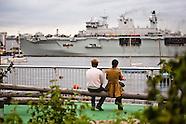 HMS Ocean arrives in London