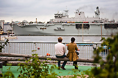 HMS Ocean arrives in London