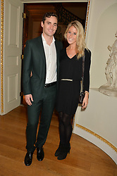 FAWN JAMES Soho Property owner and her husband NICHOLAS LAWSON at an evenig of Jewellery & Photography to launch the Buccellati 'Opera Collection' held at Spencer House, London on 21st October 2015.