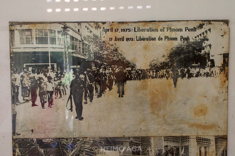 """Phnom Penh, Cambodia. Tuol Sleng Genocide Museum at the former Security Prison 21 (S-21) of the Khmer Rouge. """"Liberation"""" of Phnom Penh."""