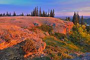 Conglomerate cliffs at sunrise<br /> Cypress Hills Provincial Park<br /> Saskatchewan<br /> Canada<br /> Cypress Hills Provincial Park<br /> Saskatchewan<br /> Canada