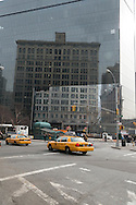 New York , East village. Astor Place, mirror tower,