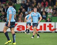 Michael Hooper (Waratahs) communicates across field during the Round 15 match of the 2013 Super Rugby Championship between RaboDirect Rebels vs HSBC Waratahs at AAMI Park, Melbourne, Victoria, Australia. 24/05/0213. Photo By Lucas Wroe