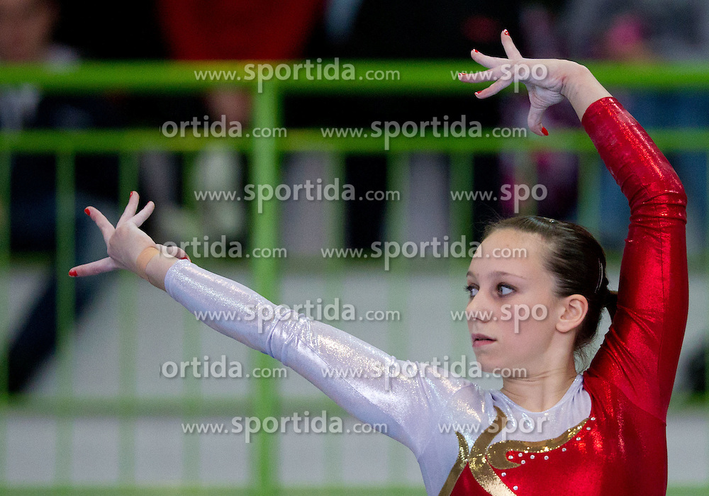 Ivana Kamnikar during Slovenian Artistic Gymnastics National Chapionship 2011, on November 20, 2011 in GIB Arena, Ljubljana, Slovenia. (Photo By Vid Ponikvar / Sportida.com)