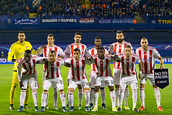 Players of FC Olympiakos during football match between GNK Dinamo Zagreb and Olympiakos in Group F of Group Stage of UEFA Champions League 2015/16, on October 20, 2015 in Stadium Maksimir, Zagreb, Croatia. Photo by Urban Urbanc / Sportida