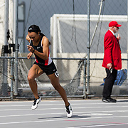 23 March 2018: Lakin Hatcher competes in the 400m Dash open event Friday morning at the 40th Annual Aztec Invitational.<br /> More game action at sdsuaztecphotos.com