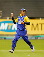 CAPE TOWN, SOUTH AFRICA - 14 December 2008, Justin Ontong fielding during the MTN Domestic Championship match between The Nashua Cape Cobras and Nashua Dolphins held at Sahara Park Newlands in Cape Town, South Africa..Photo by www.sportzpics.net