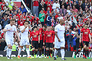 Manchester United 08 XI Michael Carrick celebrates his goal 2-2 during the Michael Carrick Testimonial Match between Manchester United 2008 XI and Michael Carrick All-Star XI at Old Trafford, Manchester, England on 4 June 2017. Photo by Phil Duncan.